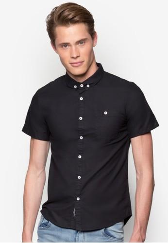 esprit 台中素色短袖襯衫, 服飾, 襯衫