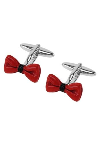 CUFF IT red Red Enamel Bow Tie Cufflinks CU047AC2VGL6HK_1