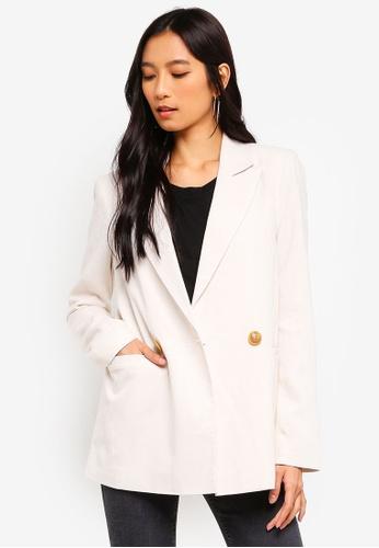 f750bafd2 Buy TOPSHOP Ivory Linen Jacket Online on ZALORA Singapore