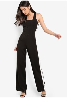 290aa772ff0 31% OFF Lavish Alice Square Neck Side Stripe Wide Leg Jumpsuit S  147.90  NOW S  101.90 Sizes 6 8 10 12 14