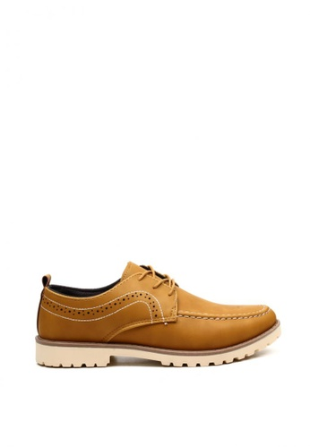 London Fashion brown Lance 9920 Formal/Casual Lace up Leather Shoes LO229SH0K19LPH_1