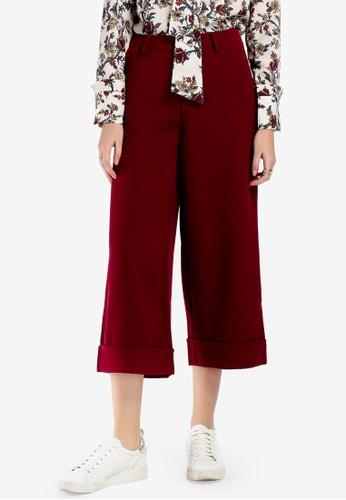 Hopeshow 紅色 Cropped Cuffed Pants 8E261AA14DA400GS_1