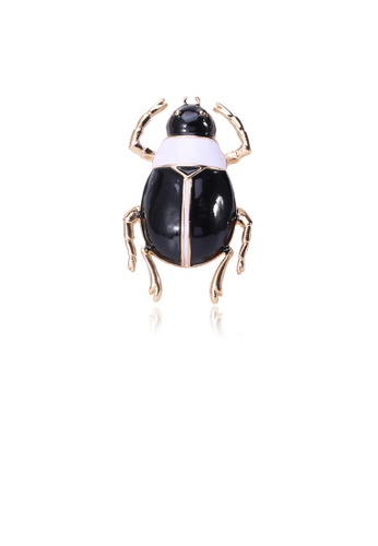 Glamorousky silver Simple and Fashion Plated Gold Beetle Brooch 70A53AC753FD3EGS_1