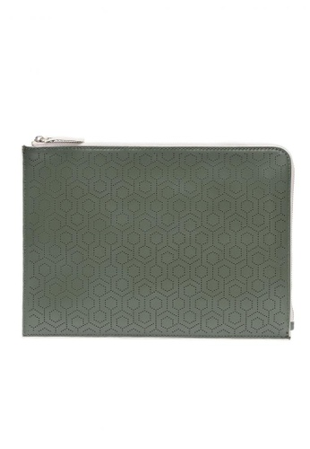 MISCHA green MISCHA Leather Folio Pouch - Ash 97996ACBD46EB9GS_1