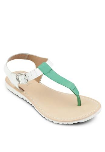 Adoravel 拼色夾趾繞踝涼鞋, 女esprit 京站鞋, 鞋