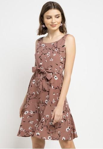 Chanira brown Samantha Dress CB024AA1E52998GS_1