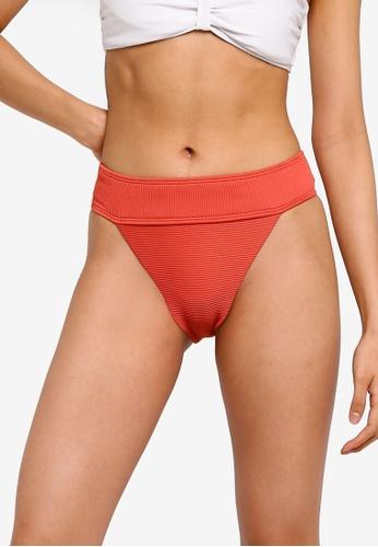 7f5bad7442f78 Buy TOPSHOP High Waisted Ribbed Tanga Bikini Bottoms Online on ZALORA  Singapore