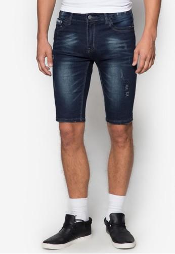 刷破水洗丹寧短褲,esprit暢貨中心 服飾, 短褲