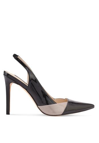 ZALORA black Double Color Detail Heels F962DSHCF3CDBFGS_1