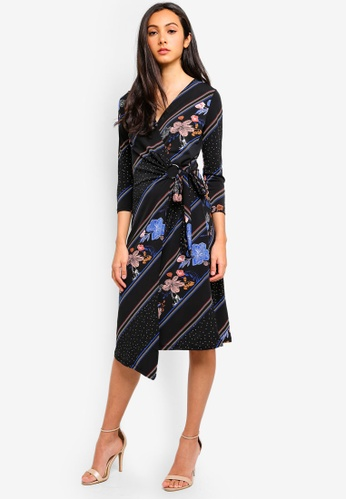 18365baca7cc0 Buy WAREHOUSE Savannah Print Wrap Midi Dress Online on ZALORA Singapore