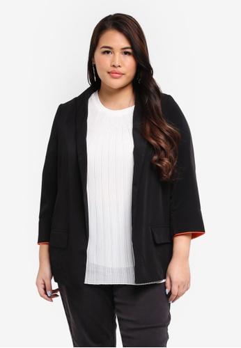 Junarose black Plus Size Nuka Blazer 9F880AAD4906B6GS_1