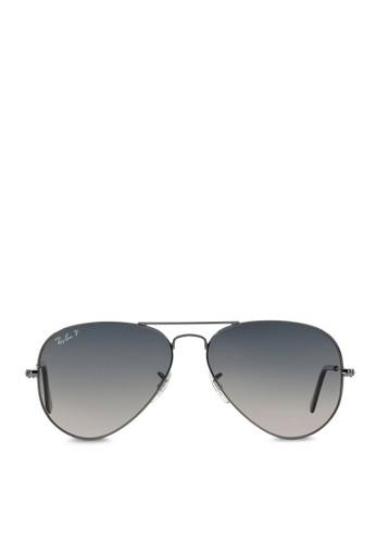 Ray-Ban black Aviator Large Metal RB3025 Polarized Sunglasses  RA370GL43SAESG 1 2fd1cd5258