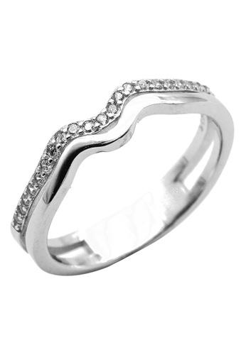 Elfi silver Elfi 925 Sterling Silver Engagement Wedding Fashion Ladies Ring P71 D94E4AC4E12E44GS_1