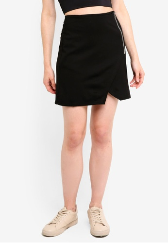 Supre black Side Zip Skirt F2CBEAAF5C7F63GS_1