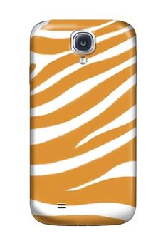 Orange Zebra Print Glossy Hard Case for Samsung S4
