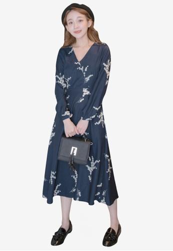 2efb91804f22 Shop Eyescream V-Neck Printed Long Sleeve Wrap Dress Online on ZALORA  Philippines