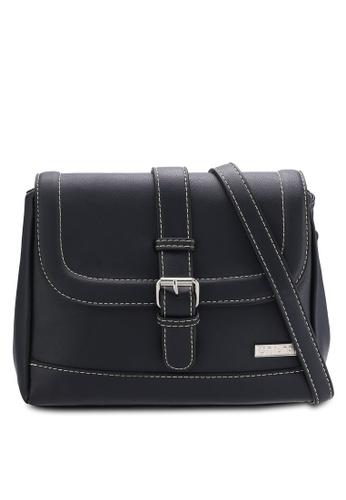Unisa black Faux Leather Sling Bag UN821AC73QTUMY_1