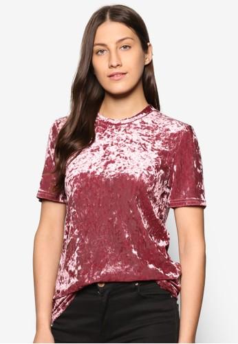 Collection 絲絨休閒TEE、 服飾、 T-shirtZALORACollection絲絨休閒TEE最新折價
