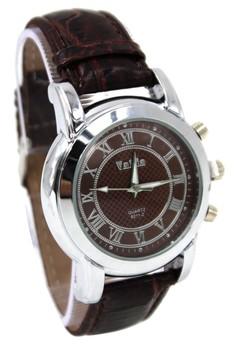 Valia Roman Leather Strap Watch 8211-2