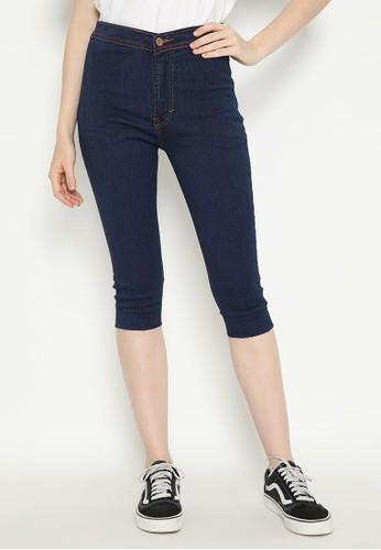 Nuber navy Myrtle Tassel Celana Pendek Jeans Stretch - Navy 2F35DAA0E2DF3AGS_1