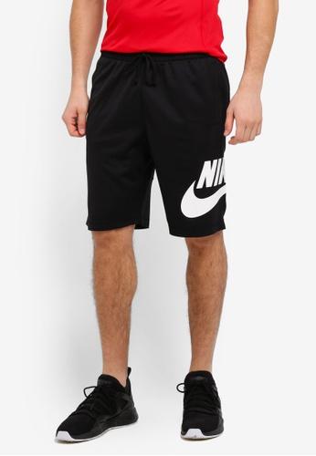 Nike black and white Men's Nike SB Dry Shorts NI126SH0STU7MY_1