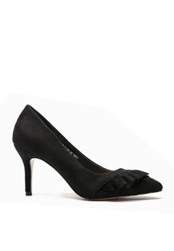 Twenty Eight Shoes 黑色 褶邊幼高跟鞋 VL679 194E0SHEF07F32GS_1