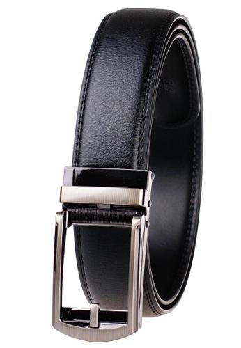 FANYU black Leather Dress Belt With Automatic Buckle belt 0EBAFAC811F36DGS_1