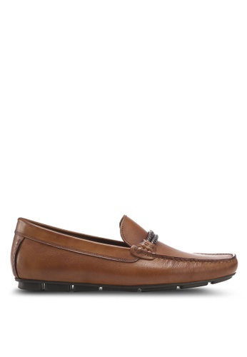ALDO brown Fildes Moccasin Shoes 3D1D5SH2CBE228GS_1