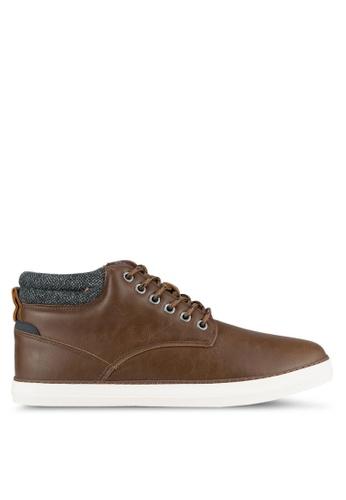 Burton Menswear London brown Tan Leather Look Sports Boots BU964SH0SHOFMY_1