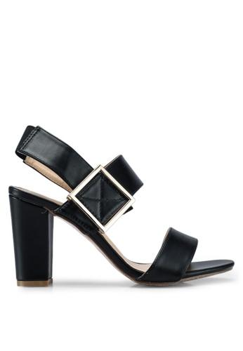 Something Borrowed black Heels with strap across 33FDASH8E6696EGS_1