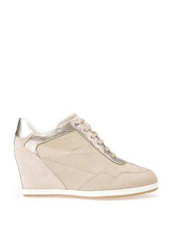Geox beige D ILLUSION Sneaker EBD23SHFE9FC02GS_1