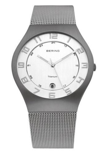 Bering silver Titanium 11937-000 White 37 mm Men's Watch 099EDAC0AD3094GS_1
