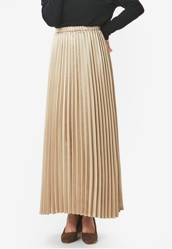 19af62b093 Buy Yoco Pleated Sheen Skirt Online on ZALORA Singapore