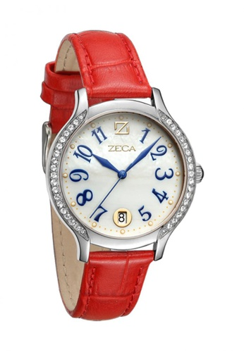 ZECA red and silver Zeca Watches Ladies Fashion - 143L Red ZE260AC48SILSG_1