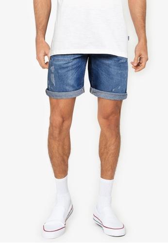 BLEND blue Twister Slim Fit Denim Shorts DB894AA46DAA35GS_1