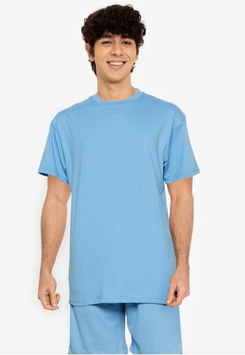 Mennace blue Breeze Tab Regular T-shirt C8D99AAF36FFD9GS_1