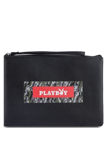 Playboy black Playboy Clutch Bag 28339ACFE9D7CDGS_1