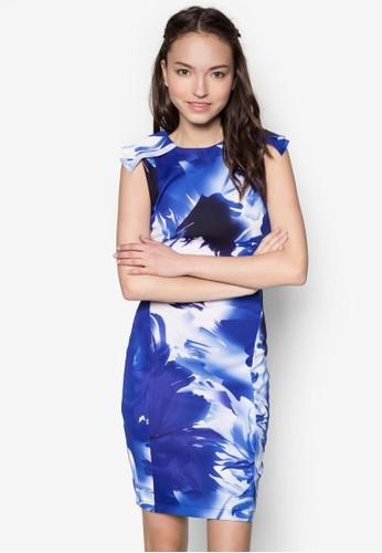esprit hong kong 分店水彩花卉洋裝, 服飾, 正式洋裝