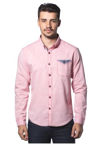 Bum Equipment pink B.U.M Equipment Men L/S Woven Shirt  (MD PINK) BU054AA0RHDIMY_1