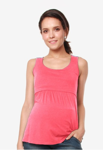 Bove by Spring Maternity pink Knitted Sleeveless Abbey Empire Top 1D9D5AA66C69EDGS_1