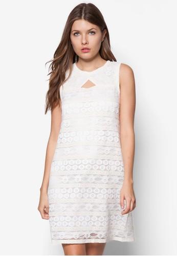 蕾絲寬版無袖洋裝esprit官網, 服飾, 洋裝