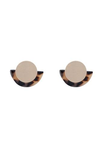 Mango 褐色 圓圈耳環 C7861AC6103075GS_1