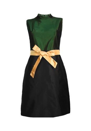 Etoile D'Elfas black and green Shantelle - Sleeveless Sheath Dress 49EBBAA1D8B098GS_1