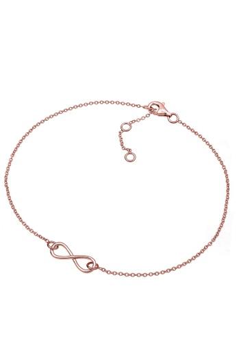 ELLI GERMANY pink Elli Germany Anklet Sterling Silver Infinity 6AA27AC9BFA495GS_1