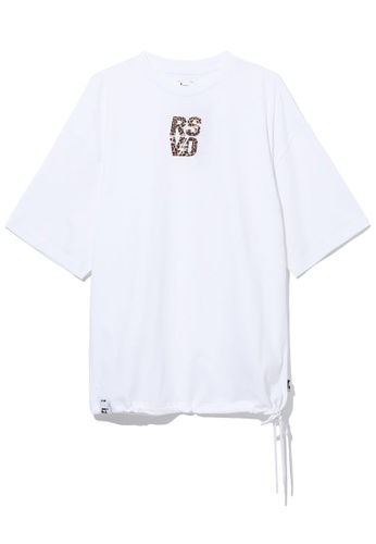 izzue white RSVD Flocking tee 81E11AA9C88F66GS_1