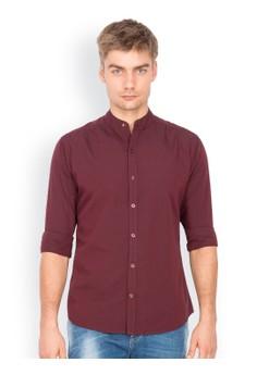 Long Sleeve Chinese Collar Shirt