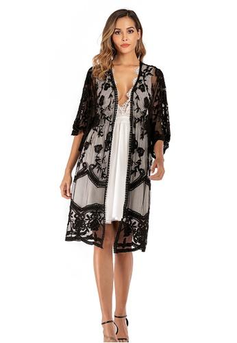 LYCKA black LTH4100-European Style Beach Robe-Black 06FBFUSDEF5C57GS_1