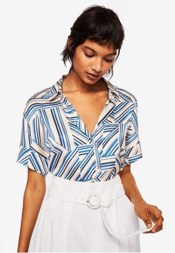 Mango blue Mixed Print Shirt 045D0AA39BE91BGS_1