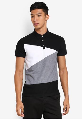 G2000 black Colour Block Polo Shirt A1C4AAA7C127ADGS_1