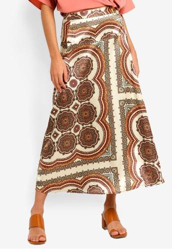 7697c431cf69d Buy TOPSHOP Paisley Bias Wrap Midi Skirt Online on ZALORA Singapore
